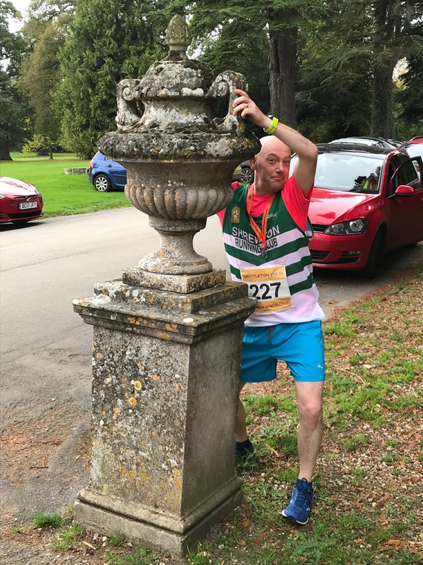 Andy H with stone trophy