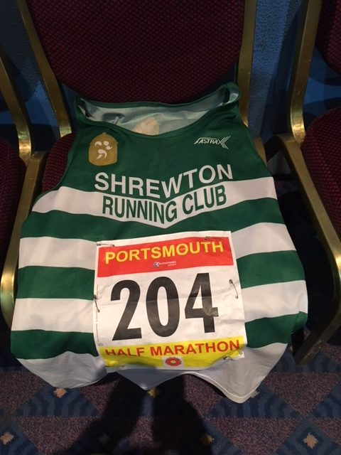 My vest and race number