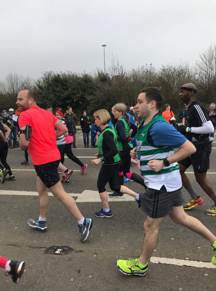 carl running the manchester marathon