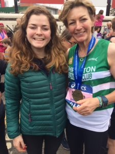 sarah and flora at manchester marathon