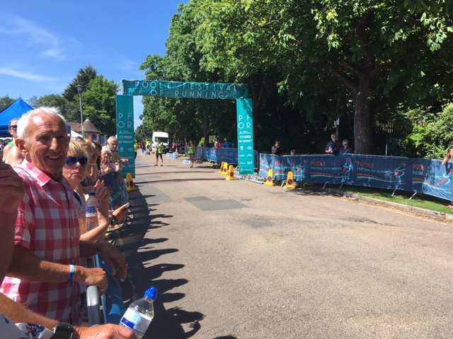 Poole Half Marathon start/finish line