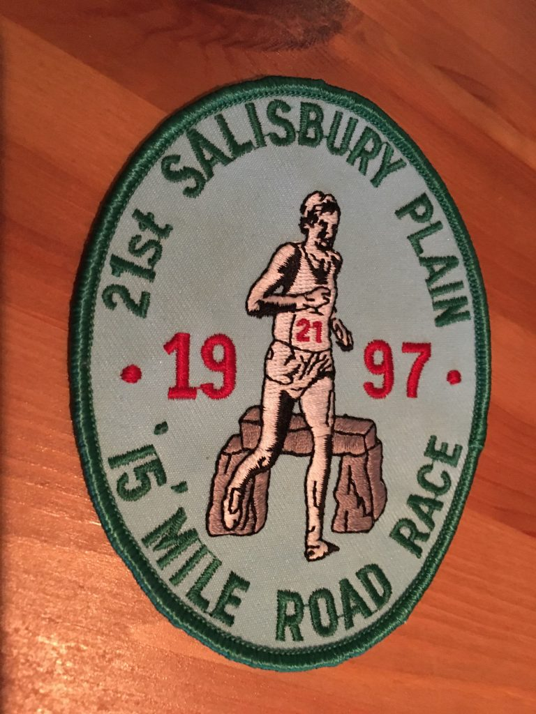 Salisbury Plain 15 Mile road race badge
